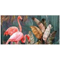 Alfombra vinílica Flamingo, 97 X 48 cm