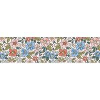 Alfombra vinílica Flowers, 250 X 64 cm
