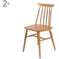 Set de 2 sillas en madera de roble Aino