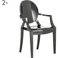 Set di 2 sedie Louis Ghost nero lucido