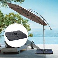 Base de Sombrilla o Pie para Parasol– Color negro –Plástico – 50 x 50 x 7.5cm