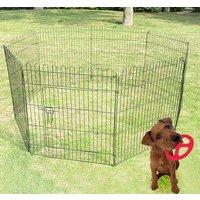 Parque Perros Jaula Plegable Mascotas Cerca Entrenamiento Cachorros 8 Vallas 71x107cm
