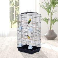 PawHut® Jaula para Pájaros Pajarera para Pájaro Acero 47.5x36x91cm