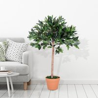 Outsunny® Olivo Artificial 90cm Planta Sintética Decorativa