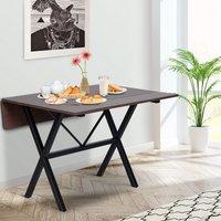 HOMCOM Mesa de Comedor Extensible con alas abatibles de Uso Mesa Plegable para Salón Cocina Rectangular de 109 cm