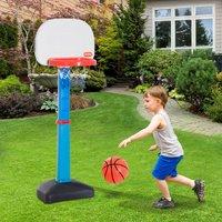 HomCom® Canasta de Baloncesto Ajustable Portátil para Interior y Exterior 50x36x142cm