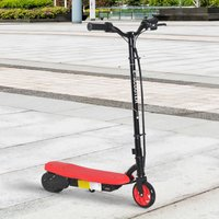 HomCom® Patinete Eléctrico Niño 7-14 Años E-Scooter 12km/h Batería Recargable 12V Monopatín 120W Carga 50kg Rojo