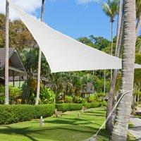 Outsunny Toldo Vela 3x3x3m Triangulo Color Crema Sombrilla Parasol Terraza Jardin Camping
