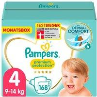 foto Pampers Pañales Premium Protection pack mensual grupo 4 9-14 kg 168 uds.