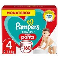 foto Pampers Pañales Baby Dry nappy Pants Tamaño 4 Maxi 160 Pañales 9 - 15 kg Caja mensual