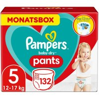 foto Pampers Pañales Baby Dry nappy Pants Tamaño 5 Junior 132 Pañales 12 - 17 kg Pack mensual