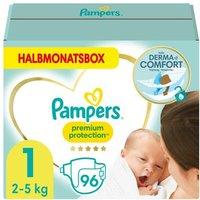 foto Pampers Premium Protection Talla 1 Bebé Recién Nacido 2 - 5kg 96 Pañales Caja Medio Mes