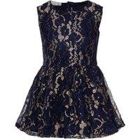 Name It Goldfarbenschimmerndes Spitzen Kleid