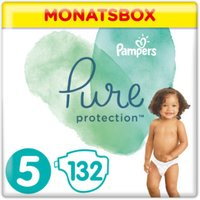 foto Pampers Pañales Pure Protection Tamaño 5 Maxi 132 Pañales 11 + kg Caja mensual