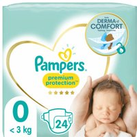 foto Pampers Premium Protection Mirco Talla 0 New Baby 24 pañales