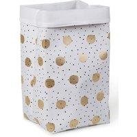 CHILDHOME Aufbewahrungsbox weiß Gold Dots 32 x 32 x 60 cm