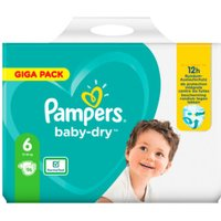 foto Pampers Baby Dry Gr. 6 Extra Large 96 pañales 13 a 18 kg Giga Pack