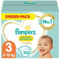 foto Pampers Premium Protection Gr. 3 Midi 105 pañales 6 a 10 kg triple pack