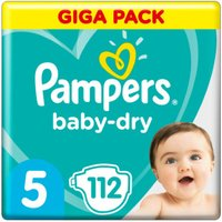 foto Pampers Baby Dry Gr. 5 Junior 112 pañales 11 a 16 kg Giga Pack