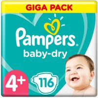 foto Pampers Baby Dry Gr.4+ Maxi Plus 112 pañales 10 a 15 kg Giga Pack