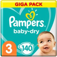 foto Pampers Baby Dry Gr. 3 Midi 140 pañales 6 a 10 kg Giga Pack