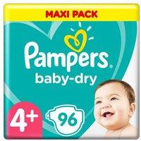 foto Pampers Pañales Baby Dry Gr. 4+ Maxi Plus 96 pañales de 10 a 15 kg triple pack