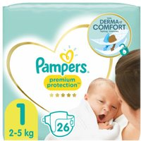 foto Pampers Premium Protection New Baby Newborn talla 1 26 pañales 2 a 5 kg