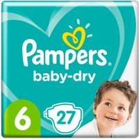 foto Pampers Pañales Baby Dry Gr. 6 Extra Large 27 Pañales 13 a 18 kg