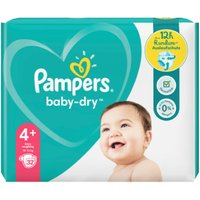 foto Pampers Pañales Baby Dry Gr. 4+ Maxi Plus 32 pañales 10 a 15 kg paquete económic
