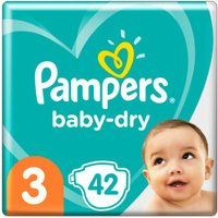foto Pampers Pañales Baby Dry Gr. 3 Midi 42 pañales 6 a 10 kg paquete económico