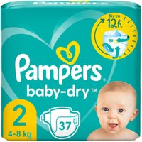 foto Pampers Pañales Baby Dry Gr. 2 Mini 37 pañales 4 a 8 kg paquete económico