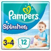 foto Pampers Splash de tamaño 3-4, 12 pañales de baño desechables
