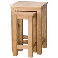 Product photograph showing Vancouver Select Oak Nest Of Tables