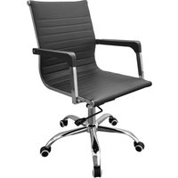 Product photograph showing Loft Black Faux Leather Home Office Chair