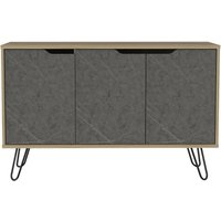 Product photograph showing Manhattan Medium Sideboard With Hairpin Legs - Pine And Stone Effect