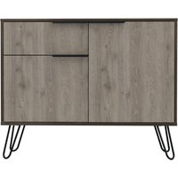 Product photograph showing Nevada Small Sideboard With Hairpin Legs - Grey Oak Effect