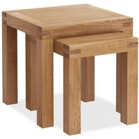 Product photograph showing Corndell Sherwood Rustic Oak Nest Of Tables