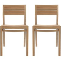 Product photograph showing Ethnicraft Oak Ex 1 Contract Grade Dining Chair Pair