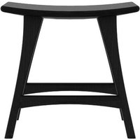 Product photograph showing Ethnicraft Oak Osso Black Contract Grade Stool