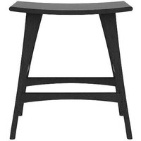 Product photograph showing Ethnicraft Oak Osso Black Counter Stool