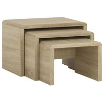 Product photograph showing 4 You Sonama Oak Small Nest Of Tables