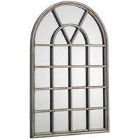 Product photograph showing Julian Bowen Opus Pewter Window Mirror - 60cm X 90cm
