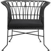 Product photograph showing Nordal Alba Black Garden Lounge Chair