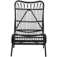 Product photograph showing Nordal Hazel Black Garden Lounge Chair