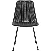 Product photograph showing Nordal Irony Black Garden Chair