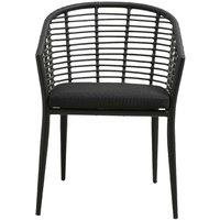 Product photograph showing Nordal Salix Black Garden Chair