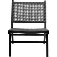 Product photograph showing Nordal Vasai Black Garden Lounge Chair