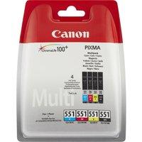 Canon CLI-551 C/M/Y/BK Multipack - 4-pack - black, yellow, cyan, magenta - original - ink tank