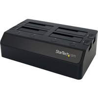 Click to view product details and reviews for Startechcom 4 Bay Usb 30 5 Gbps Hard Drive Docking Station W Uasp For 25 35 Sata Ssd Hdd Multiple External Hard Drive Cloner Copier Dock Sdock4u33 Storage Enclosure.