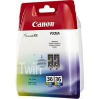 Canon CLI-36 Twin Pack - 2-pack - colour (cyan, magenta, yellow) - original - ink tank